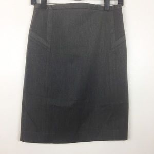 Express Gray High Waist Pencil Skirt
